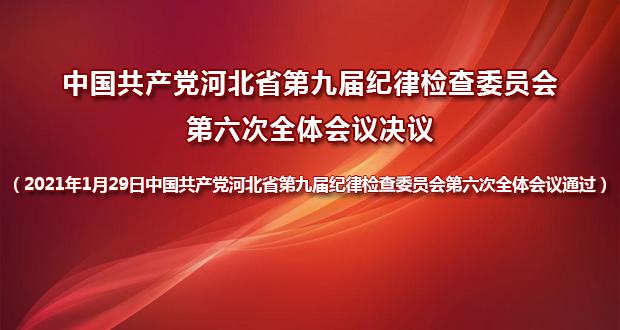 中国共产党河北省第九届纪律检查委员会第六次全体会议决议