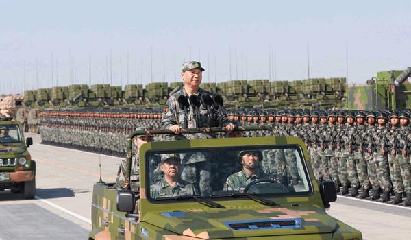 庆祝中国人民解放军建军90周年阅兵在朱日和联合训练基地隆重